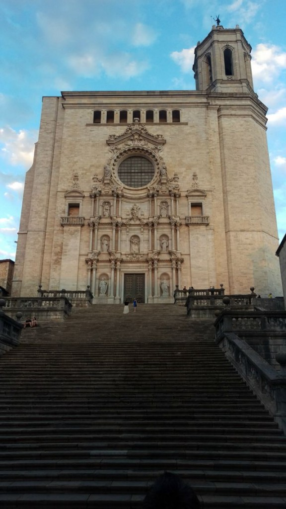 Girona Cathedral, cyclotourism