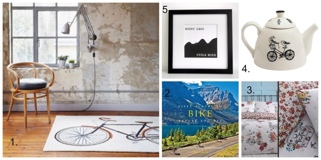 Cycling Wishlist: Bike themed homeware for Cyclists