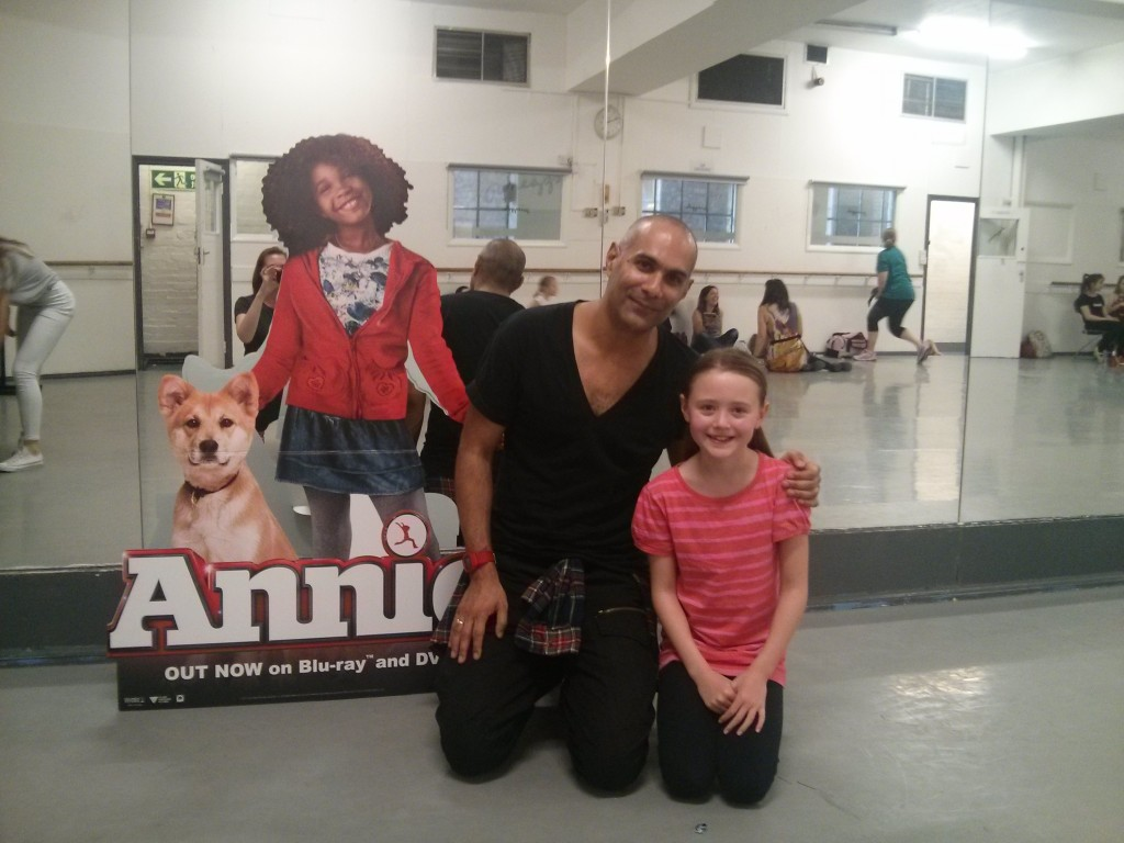 Miss OCG, looking very happy, with Strictly Come Dancing choreographer and our Annie choreographer, Richard Marcel.