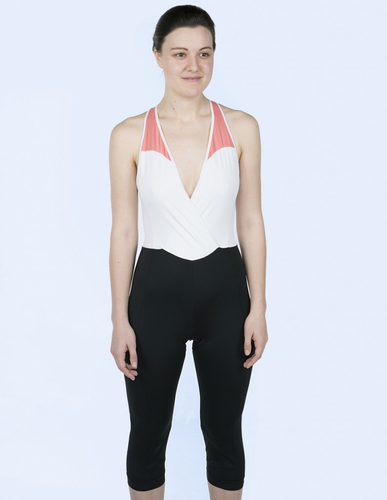 Fierlan three-quarter length bib cycling tights