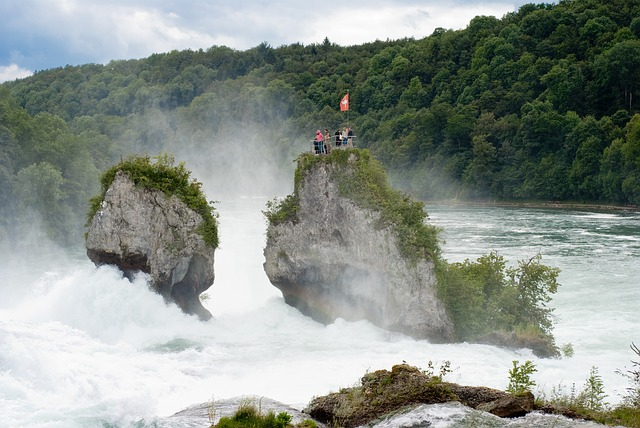 Rhine Waterfalls, cycling lake constance