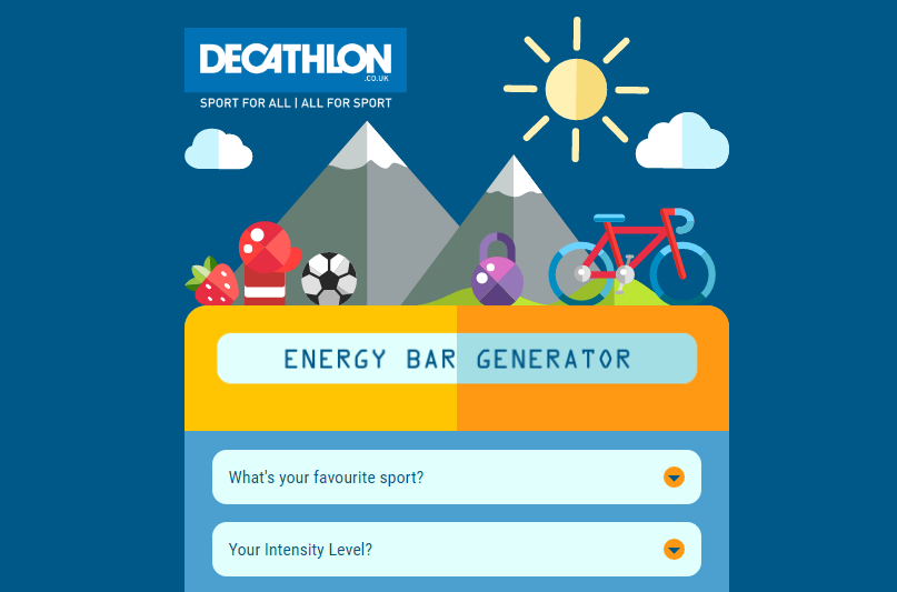 Decathlon Energy Bar Generator
