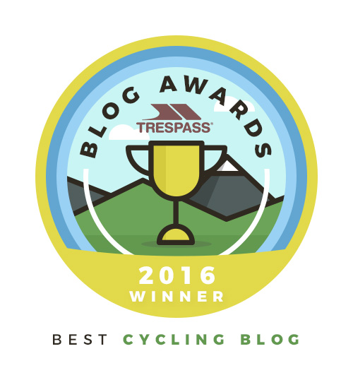 Best Cycling Blog 2016 - Trespass Blog Award winner