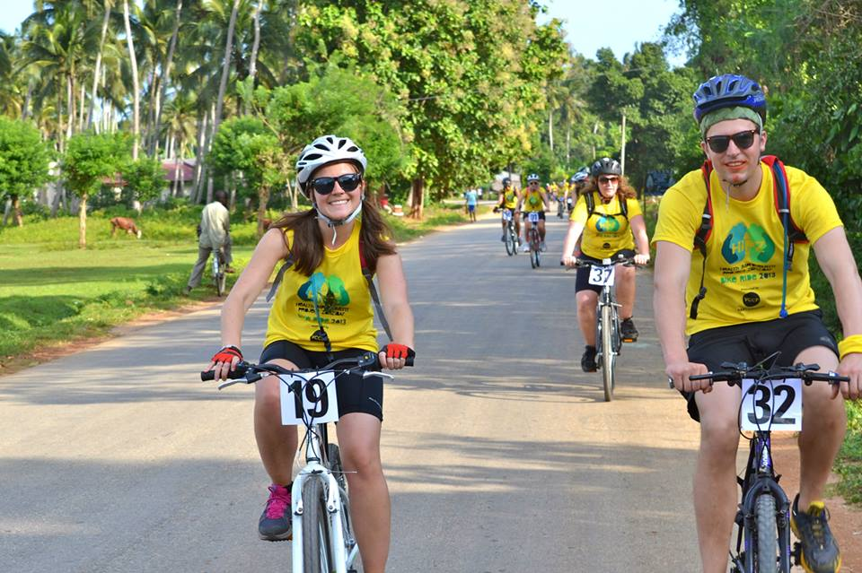 HIPZ Sarah cycling through Zanzibar