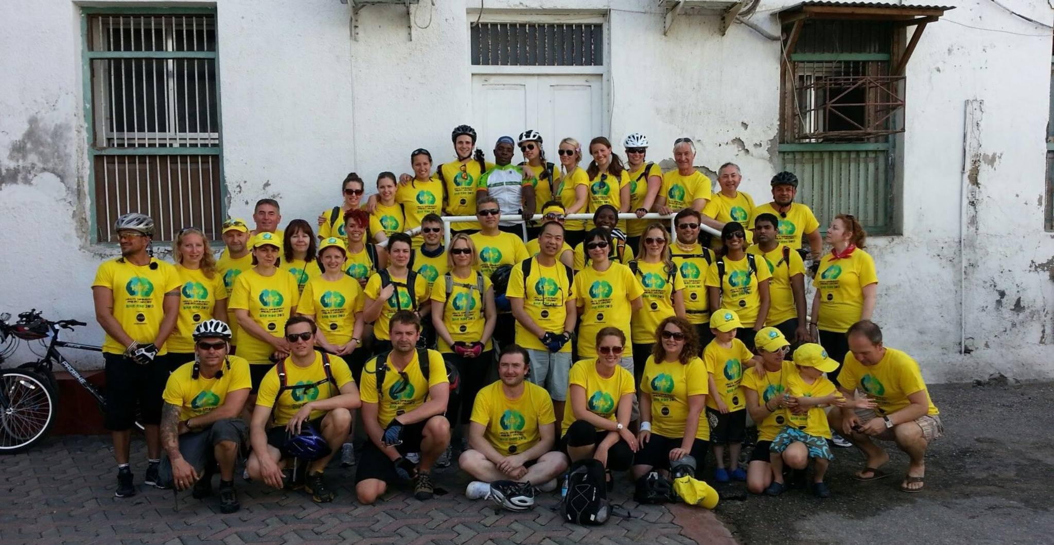 The 2013 HIPZ cycle ride team